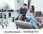 professional photographer... | Shutterstock . vector #594908747