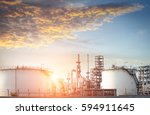 oil refinery and oil industry | Shutterstock . vector #594911645