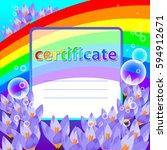 universal certificate award... | Shutterstock .eps vector #594912671