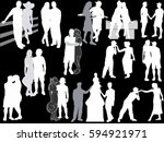 illustration with loving... | Shutterstock .eps vector #594921971