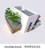 3d rendering of a big modern... | Shutterstock . vector #594924131