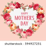 happy mother's day. vintage... | Shutterstock .eps vector #594927251