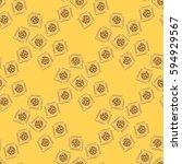 doodle bisquit or cracker...   Shutterstock .eps vector #594929567