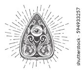 hand drawn divination board... | Shutterstock .eps vector #594933257