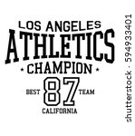 athletic sport california... | Shutterstock .eps vector #594933401