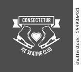 ice skate label logo design.... | Shutterstock .eps vector #594936431