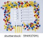 pills  tablets  capsule ... | Shutterstock . vector #594937091