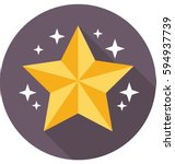 star vector icon  | Shutterstock .eps vector #594937739