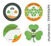 a set of bierdeckels . beer... | Shutterstock .eps vector #594940694
