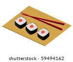 plate from a japanese rolls ... | Shutterstock . vector #59494162