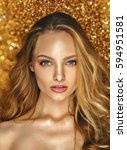 shine make up of beauty young... | Shutterstock . vector #594951581