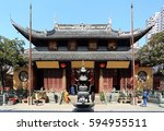 the jade buddha temple | Shutterstock . vector #594955511