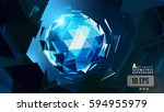 polygonal abstract triangular... | Shutterstock .eps vector #594955979