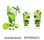 a mojito cocktail | Shutterstock . vector #594959651