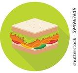 sandwich vector icon   Shutterstock .eps vector #594967619