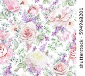seamless pattern with pink...   Shutterstock . vector #594968201