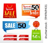 collection of web tag banner... | Shutterstock .eps vector #594969431