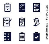 questionnaire icons set. set of ... | Shutterstock .eps vector #594976601