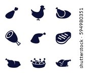 roast icons set. set of 9 roast ... | Shutterstock .eps vector #594980351
