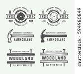 set of vintage carpentry ...   Shutterstock .eps vector #594980849