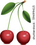 two cherries over white... | Shutterstock .eps vector #59499415
