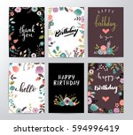 vector happy birthday card | Shutterstock .eps vector #594996419