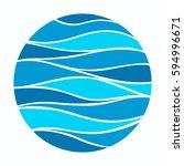 water wave logo abstract design.... | Shutterstock .eps vector #594996671