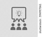 teamwork vector icon eps 10.... | Shutterstock .eps vector #594997061