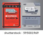 set of express delivery service ...   Shutterstock .eps vector #595001969