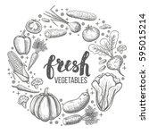 monochrome sketch style set of... | Shutterstock .eps vector #595015214