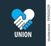 vector logo handshake   Shutterstock .eps vector #595024229