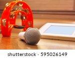 image of karaoke | Shutterstock . vector #595026149
