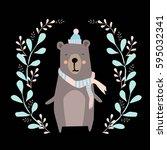 bear illustration | Shutterstock .eps vector #595032341