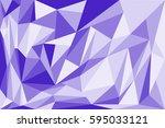 purple abstract polygon art... | Shutterstock .eps vector #595033121