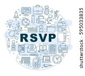 """circle of icons with """"rsvp"""" for ... 