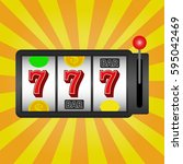 slot machine  background.... | Shutterstock .eps vector #595042469