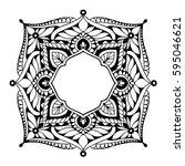 mandalas for coloring book.... | Shutterstock .eps vector #595046621