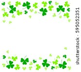 vector illustration of clover... | Shutterstock .eps vector #595052351