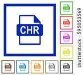 chr file format flat color... | Shutterstock .eps vector #595053569