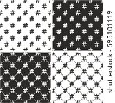 hashtag icon seamless pattern... | Shutterstock .eps vector #595101119