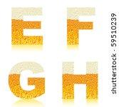 vector beer letter | Shutterstock .eps vector #59510239