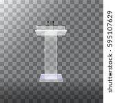 transparent podium tribune... | Shutterstock .eps vector #595107629