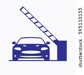 parking gate icon. car...   Shutterstock .eps vector #595110155
