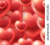 hearts vector seamless pattern. ... | Shutterstock .eps vector #595114181