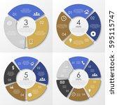 vector round infographics....   Shutterstock .eps vector #595115747