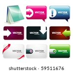 web elements collection | Shutterstock .eps vector #59511676
