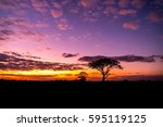 Silhouette Tree In Africa With...
