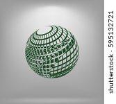 wire frame design element.... | Shutterstock .eps vector #595132721