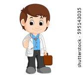 cute doctor cartoon | Shutterstock . vector #595143035