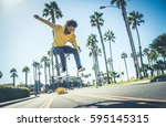 Cool Skateboarder Outdoors  ...